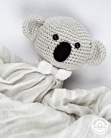 Crochet Baby Comforter BWB - Coala Grey
