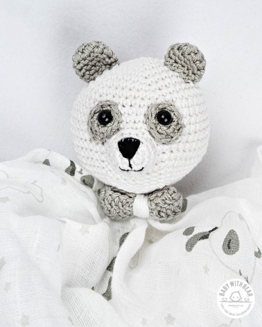Crochet Baby Comforter Baby With Bear - Panda