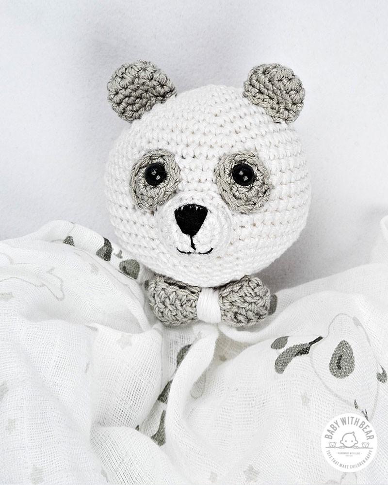 Crochet Baby Comforter Baby With Bear - Panda