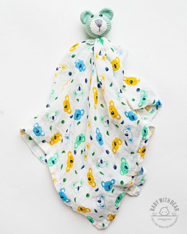 Amigurumi Baby Comforter BWB - MINI Bear Green