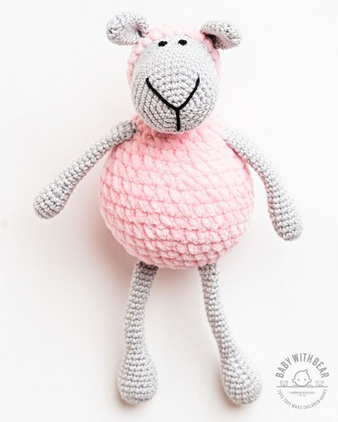 Amigurumi Sheep BWB - Sheep Pink & Gray