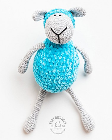 Amigurumi Sheep BWB - Sheep Blue & Gray