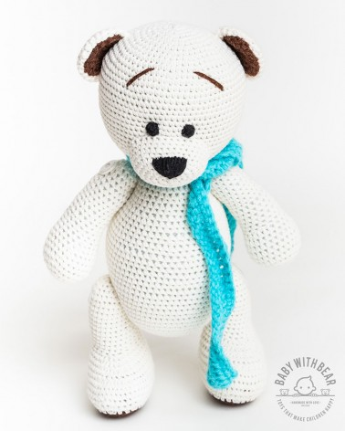 Amigurumi Bear BWB - Bear with Scarf White