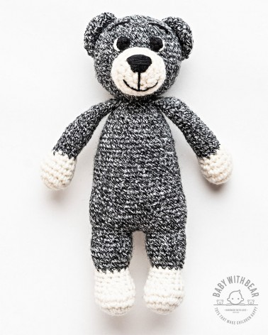 Amigurumi Bear BWB - Bear Tobi XL - Black & White