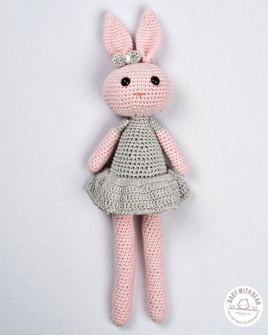 Amigurumi BWB - Bunny In Dress Pink & Grey
