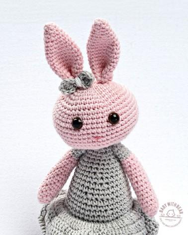 Amigurumi BWB - Bunny In Dress Pink & Grey