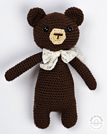 Amigurumi Baby With Bear - Bear Brown
