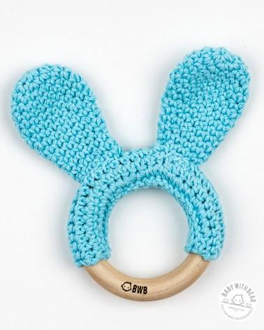 Crochet Teether BWB - Bunny Ears (Turquoise)