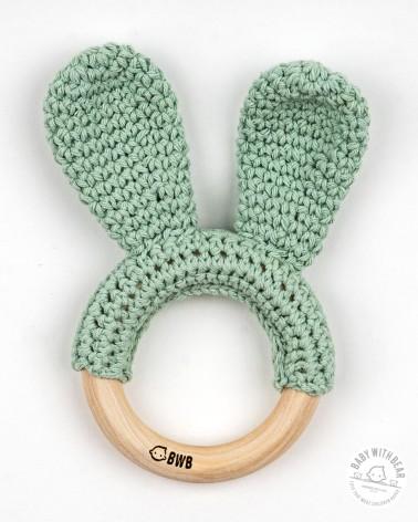 Crochet Teether BWB - Bunny Ears (Green)