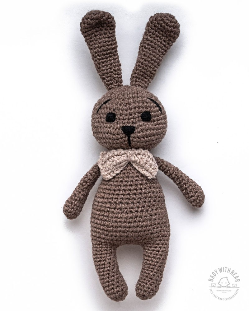 Amigurumi Bunny BWB - Bunny with Bow Brown - Baby with Bear