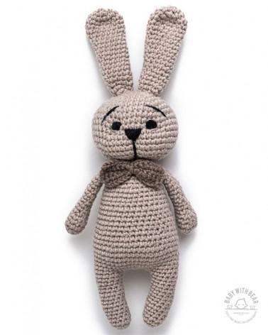 Amigurumi Bunny BWB - Bunny with Bow - Cream -Baby with Bear