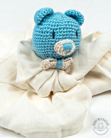 Amigurumi Baby Comforter BWB - Bear Blue