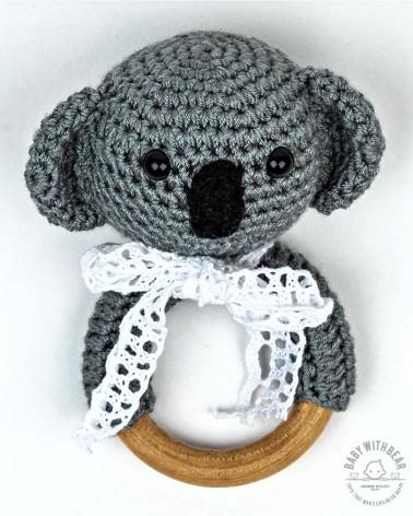 Crochet Rattle Ring BWB - Koala Teether