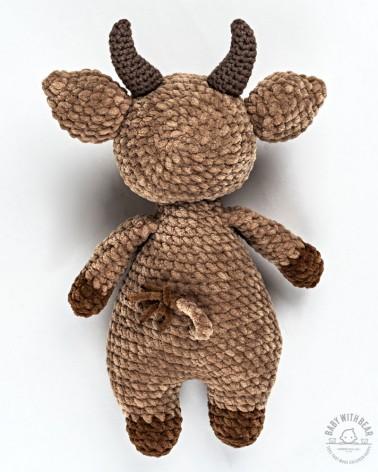 Amigurumi Bull BabyWithBear - Bull Brown