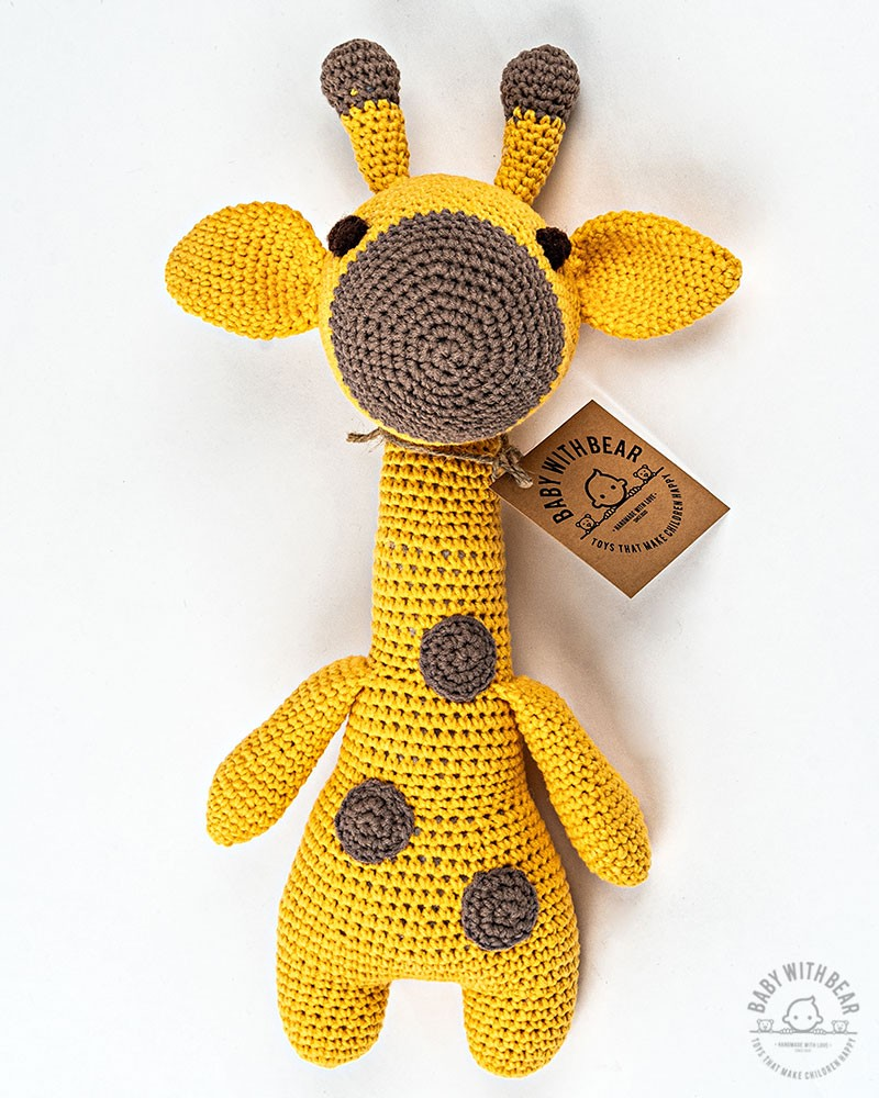 Amigurumi Giraffe BabyWithBear - Giraffe Yellow